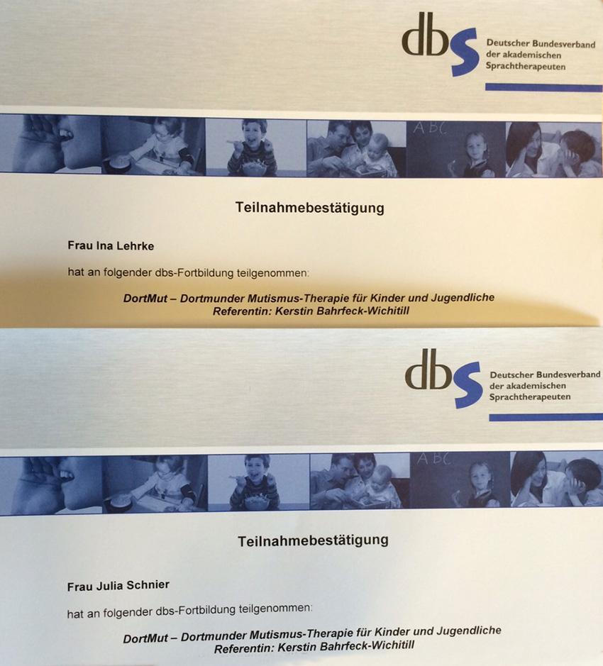 Fortbildung DortMuT: Teilnahmebestätigung
